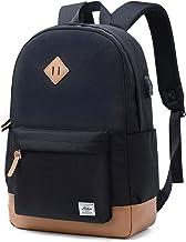 Abshoo Classical Basic Womens Travel Backpack for College Men Water Resistant Laptop School Bookbag (USB Black)