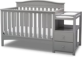 Delta Children Birkley Convertible Crib and Changer, Grey