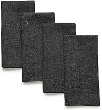 charcoal grey linen napkins