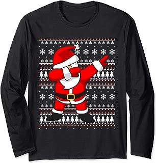 Dabbing Santa Claus Ugly Sweater T-Shirt   Long Sleeve Shirt