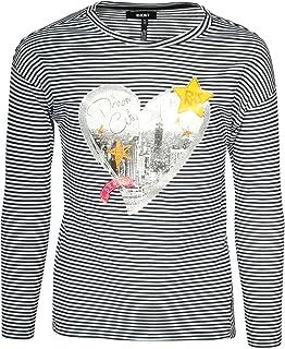 DKNY Girls Long Sleeve Fashion Top High Low Hem
