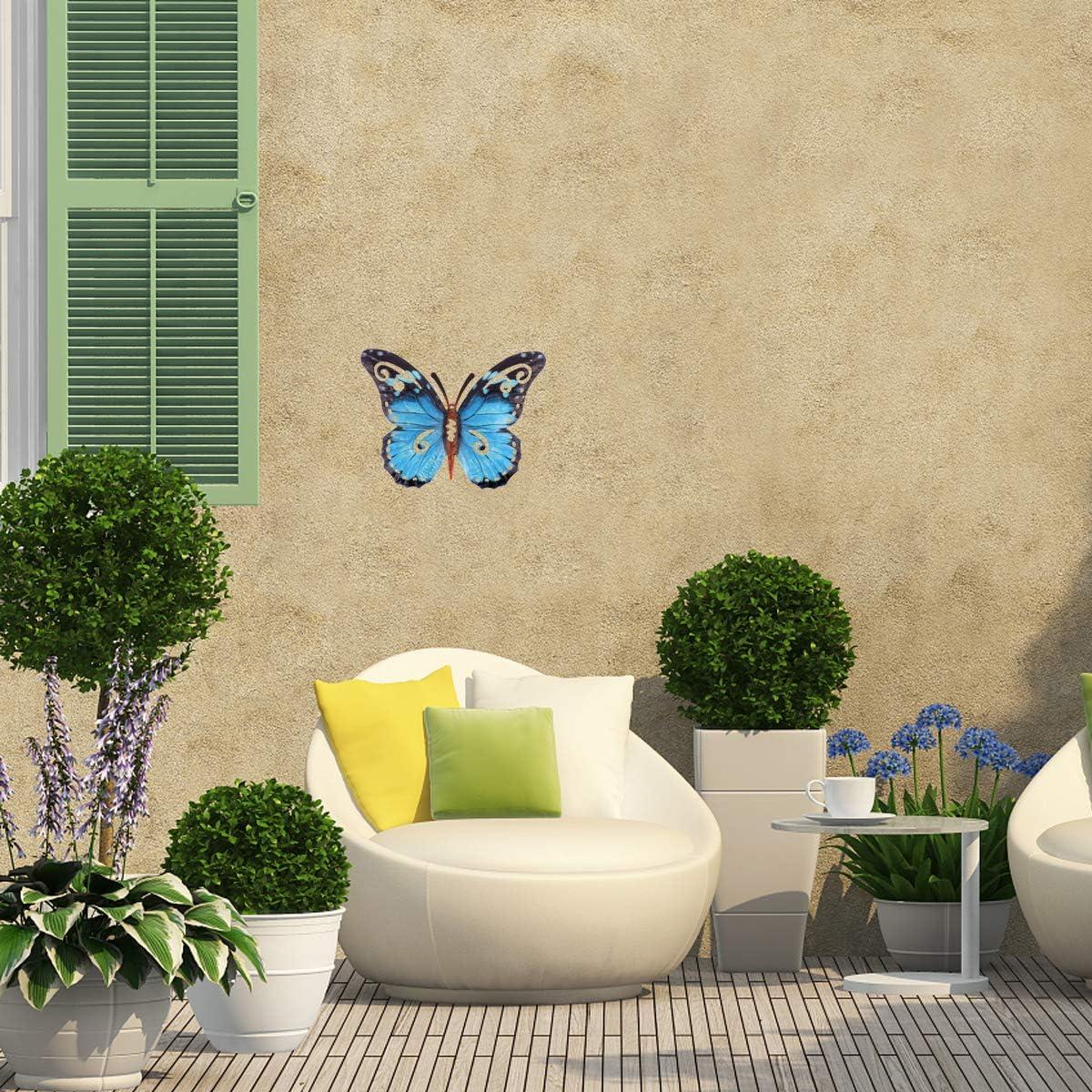 Marron YARNOW D/écoration Murale Papillon en Fer D/écoration Murale De Jardin Ext/érieur Papillon en M/étal
