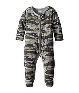 Camo Print Long Sleeve Footed Sleeper (Infant)