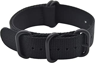 ArtStyle Watch Band with Ballistic Nylon Material Strap and High-End Black Buckle (Matte Finish Buckle)
