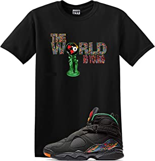 World Shirt Jordan Retro 8 Tinker AIR RAID Concord Aloe