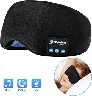 Voerou Sleep Headphones Wireless Bluetooth Sleep Eye Mask Music and Ultra Thin Speakers Perfect for Sleeping, Air Travel,M...