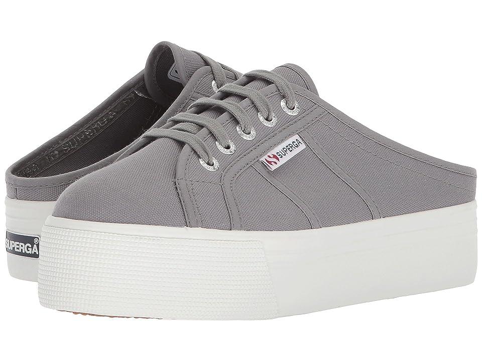 Superga 2284 Vcotw Platform Sneaker Mule (Grey Sage) Women