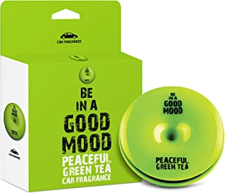 Be in a Good Mood Car Fragrances | Essential Oils | Car Air Freshener with Easy-to-Use Air Vent Diffuser | Boost Your Mood & Eliminate Unpleasant Odors (Green Tea)