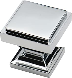 square cabinet knobs chrome