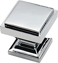 Southern Hills Polished Chrome Square Cabinet Knobs - Pack of 5 - Kitchen Pulls, Chrome Cabinet Hardware, Cupboard Drawer Knobs SHKM002-CHR-5