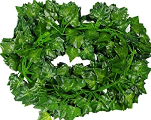 SeekNew 156 feet Fake Foliage Garland Leaves Decoration Artificial Greenery Ivy Vine Plants for Home Decor Indoor Outdoors (Ivy Leaves/12 Strands)