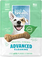 product image for Fresh Breath by TropiClean Advanced Cleaning Dental Chews for Dogs 5-25 Pounds, 20ct, 11oz - Helps Brush Away Plaque and Tartar — Made in the U.S.A.