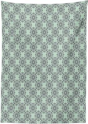 Chevron Zig Zag Stripes Vinyl Tablecloth with Flannel Back 52x90 Inch Oblong