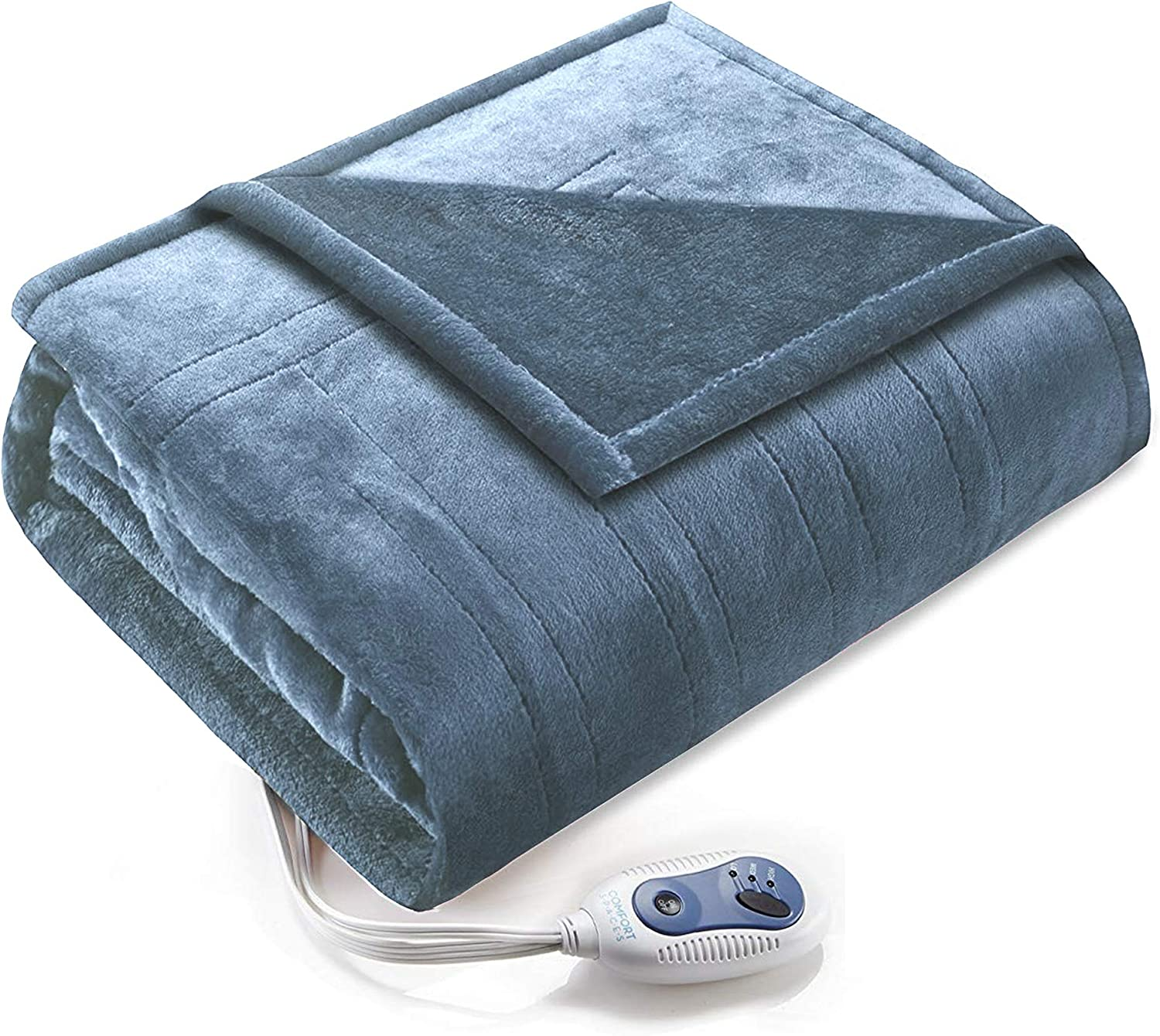 Comfort Spaces Luxury Classic Microplush 1 S Piece Blanket Baltimore Mall Wrap Electric