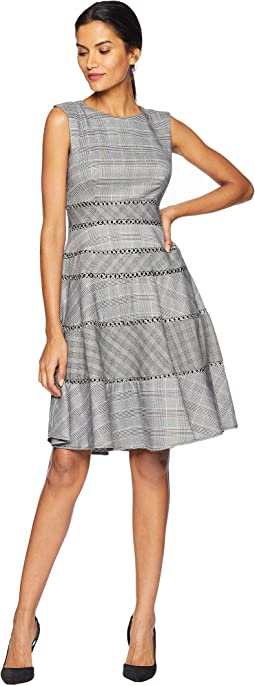 Mini Plaid A Line Dress