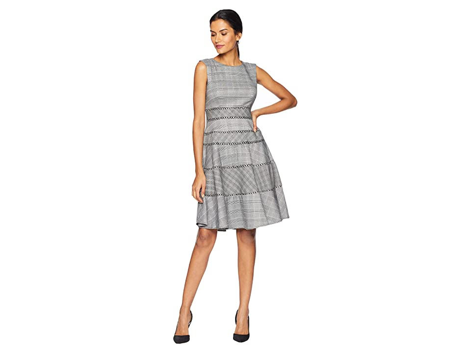 Taylor Mini Plaid A Line Dress (Black/Ivory) Women