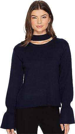 J.O.A. - Choker Neck Pullover
