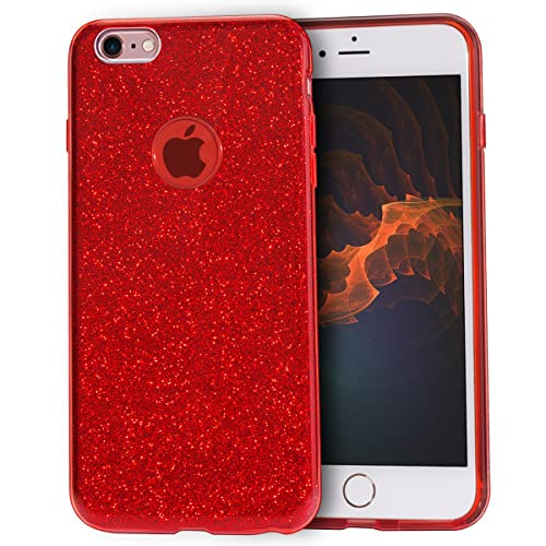 MATEPROX iPhone 6s Plus Case iPhone 6 Plus Case Glitter Slim Crystal Bling  3 Layer Hybrid 1d7d8c174