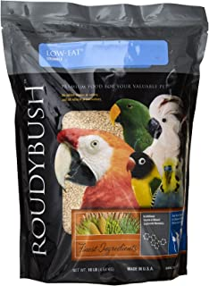 RoudyBush Low Fat Bird Food, Crumbles, 10-Pound