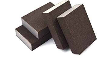 Extra Fine (400 Grit) Manual Sanding Sponge Sheet Kitchen Polishing Grinding Abrasive Sponge Block 4-Inch, 4-Pack