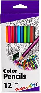 مداد رنگی Pentel Arts ، رنگهای متنوع ، ست 12 تایی