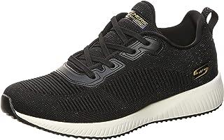Skechers - Zapatillas deportivas Bobs Squad Total Glam-32502 para mujer, negro y dorado
