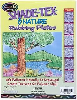 Melissa & Doug Scratch Art Shade-Tex - Nature Rubbing Plates, 6-Pack