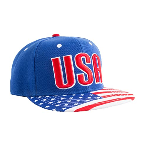 2142ab62562 Epic USA American Flag Pride Merica Snapback Hat of Freedom