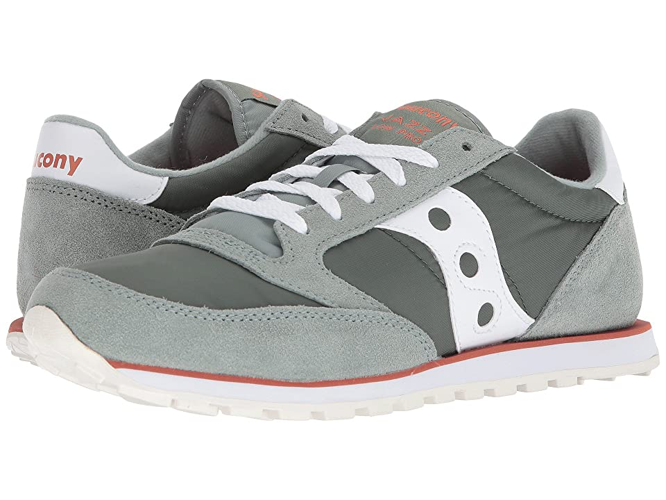 Saucony Originals Jazz Low Pro (Green/White) Men