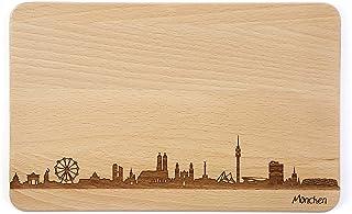 Brotzeitbrett München Skyline | Frühstücksbrettchen aus B