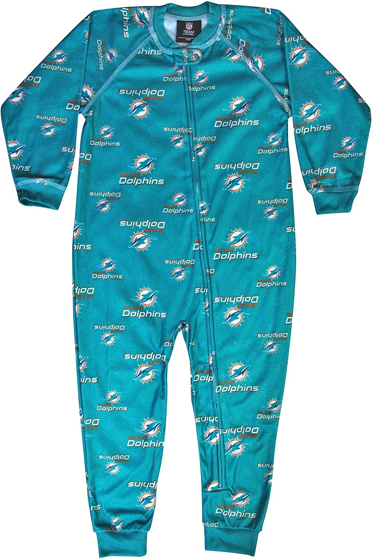 Outerstuff San Francisco Mall Miami Dolphins NFL Spasm price Toddler Zip Sleeper Raglan Up