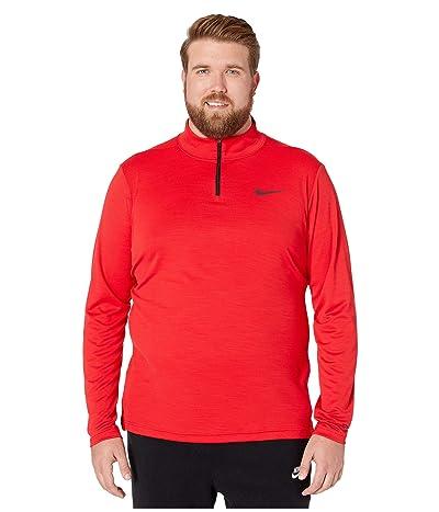 Nike Big Tall Superset Top Long Sleeve 1/4 Zip (University Red/Black) Men