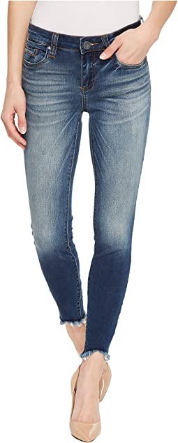 Connie Ankle Skinny w/ Step Fray Hem in Celebration