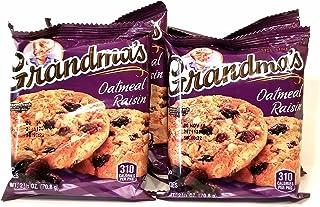 Grandma's Cookies Oatmeal Raisin Flavored 4 Packs 2 per pack