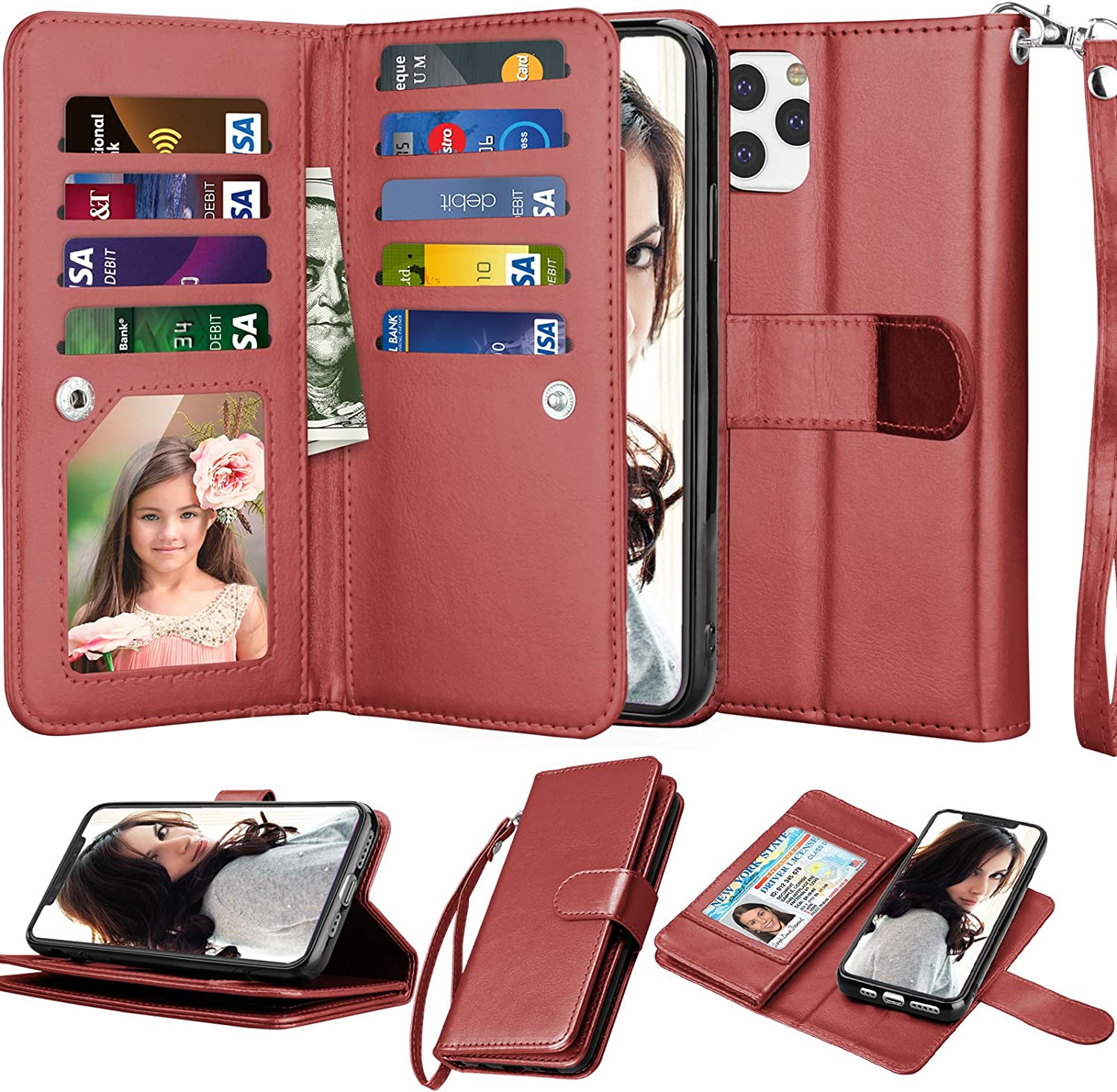 Njjex Wallet Case for iPhone 11 PRO Max 2019, for iPhone 11 PRO Max Case (6.5