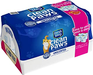 Fresh Step Clean Paws Unscented Low Tracking Clumping Cat Litter, 34.2 pounds, Grey