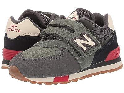 New Balance Kids IV574v1-USA (Infant/Toddler) (Camo Green/Team Red) Kids Shoes