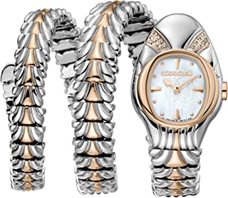 ROBERTO CAVALLI Women's RC-94 Swiss Quartz Watch with Stainless Steel Strap, Rose Gold Double wrap, 22 (Model: RV2L042M0066)
