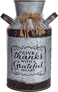 Decorative Galvanized-Metal Can | Garden Decoration | Gardening Gift/Souvenir | Metal Flower Pot/Vase Decor