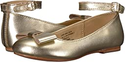 Metallic Ankle Strap Ballet Flat (Toddler/Little Kid/Big Kid)
