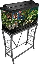 Aquatic Fundamentals Silver Vein Scroll Aquarium Stand, 29 Gallons