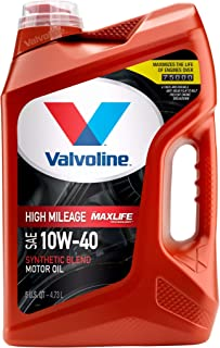 Best Valvoline High Mileage with MaxLife Technology SAE 10W-40 Synthetic Blend Motor Oil 5 QT Review