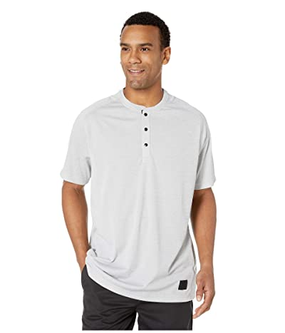 adidas Golf Adicross No-Show Transition Short Sleeve Henley (Grey Two) Men