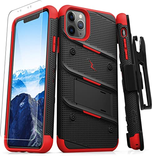 ZIZO Bolt Series iPhone 11 Pro Case - Heavy-Duty Military-Grade Drop Protection w/Kickstand Included Belt Clip Holste...