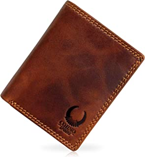 Corno D'oro Cartera de Piel para Hombre CD32010NC, Monedero pequeño con protección RFID, Billetera Vintage marrón