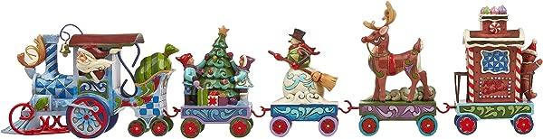 Jim Shore Heartwood Creek Holiday Express Train 5 Piece Mini Set Stone Resin Figurine 3 5