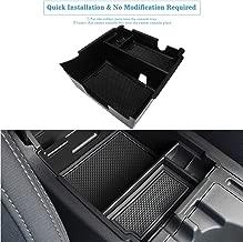 Marchfa Center Console Box Armrest Secondary Organizer Tray Accessories for Subaru Crosstrek and Impreza 2018-2019 (Black)