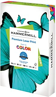 Hammermill Premium Laser Print 24lb Copy Paper, 8.5x14, 1 Ream, 500 Sheets, Made in USA, Sustainably Sourced from American...