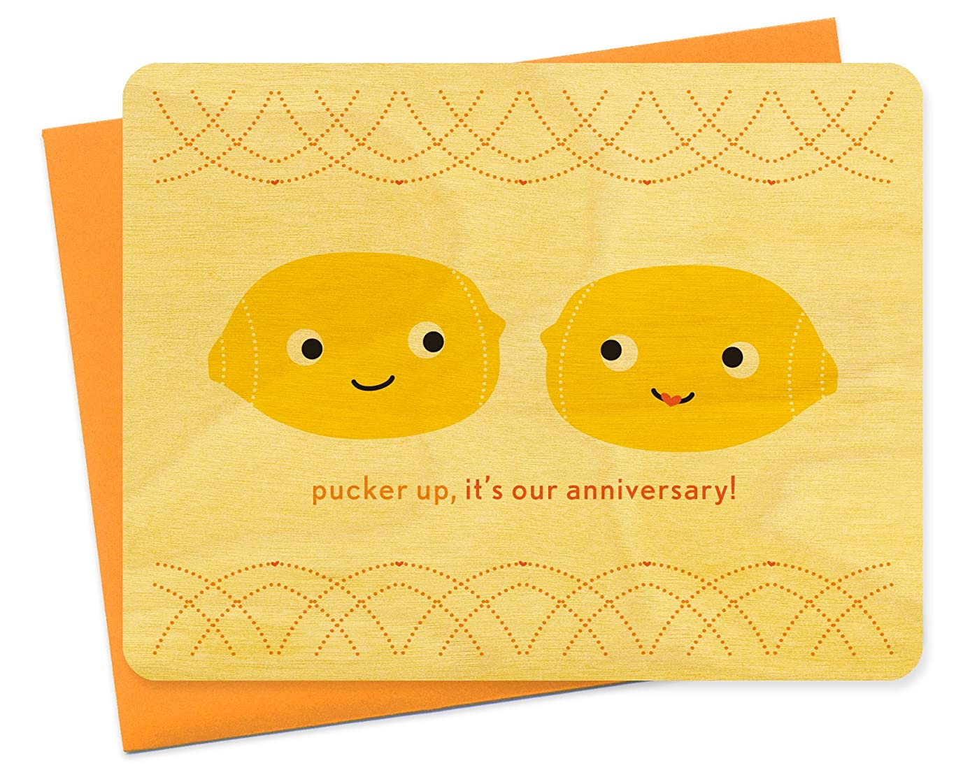 Night Owl Paper Goods Pucker Up Wood Anniversary Card xrlw2841336