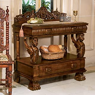 Gothic Hand-carved Solid hardwood Winged Lion Buffet Console Table